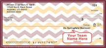 Click on Burgundy & Gold Chevron Personal Checks For More Details