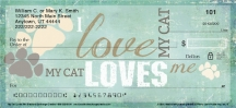 Click on My Cat Loves Me Personal Checks For More Details