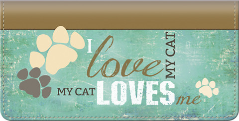 Click on My Cat Loves Me Checkbook Cover For More Details