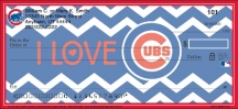 Click on I Love the Cubs(TM) Chevron Personal Checks For More Details
