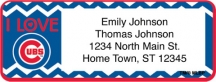 Click on I Love the Cubs Chevron Return Address Label For More Details