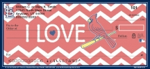 Click on I Love the Cardinals(TM) Chevron Personal Checks For More Details