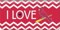 Click on I Love the Cardinals(TM) Chevron Checkbook Cover For More Details