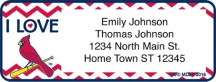 Click on I Love the Cardinals(TM) Chevron Address Labels For More Details