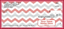 Click on Red & Gray Chevron Personal Checks For More Details
