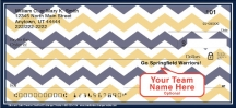 Click on Blue & Gold Chevron Personal Checks For More Details