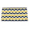 Click on Blue and Gold Chevron Cosmetic Bag For More Details