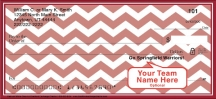 Click on Red & White Chevron Personal Check Personal Checks For More Details
