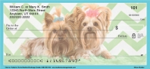 Click on Chevron Yorkshire Terrier Personal Checks For More Details