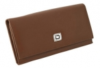 Click on Ladies Tan Leather Clutch Wallet For More Details