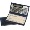 Click on Black Leather Checkbook Cover w/ calculator For More Details