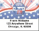 Click on Democrat Stars and Stripes Address Labels For More Details