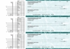 Click on Teal Marble Multi Purpose Business Checks For More Details