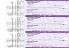 Click on Purple Marble Multi Purpose Business Checks For More Details