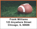 Click on Blue & Orange Football Team Address Labels For More Details