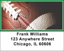 Click on Green & White Football Team Address Labels For More Details