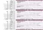 Click on Burgundy Marble Multi Purpose Business Checks For More Details