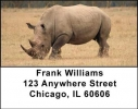 Click on Rhinos Address Labels For More Details