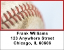 Click on Red & White Baseball Team Address Labels For More Details