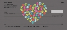 Click on Colorful Skull of Hearts  Personal Checks For More Details