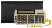 Click on Black Tri-fold Checkbook Calculator Cover For More Details
