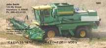 Click on Big Green Machines  Personal Checks For More Details