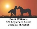 Click on Horse Labels - Horses at Sunset Address Labels For More Details