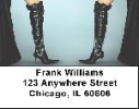 Click on Boot Labels - Black Stiletto Boots Address Labels For More Details