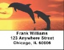 Click on Dolphin Labels - Dolphin Silhouettes Address Labels For More Details