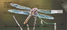 Click on Dragonflies - Dragonfly Personal Checks For More Details