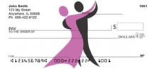 Click on Dancer Silhouette - Dancing Personal Checks For More Details