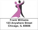 Click on Dancer Silhouette Address Labels - Dancers Labels For More Details