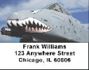 Click on Air Force A-10 Warthog Address Labels - Warthog Labels For More Details