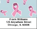 Click on Pink Ribbon Background Address Labels For More Details