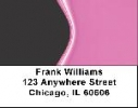 Click on Hot Pink Address Labels - Pink and Black Labels For More Details