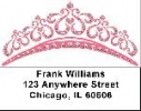 Click on Tiaras Labels - Pink Tiara Address Labels For More Details