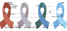 Click on Awareness Ribbons - Awareness Personal Checks For More Details