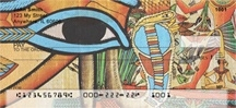 Click on Egyptian Papyrus Personal Checks For More Details
