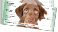 Click on Chocolate Lab Pup Side Tear Personal Checks For More Details