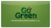 Click on Green Living Checkbook Cover For More Details