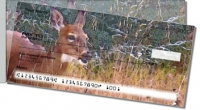 Click on Watercolor Deer Side Tear Personal Checks For More Details