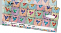 Click on Patchwork Heart Side Tear Personal Checks For More Details