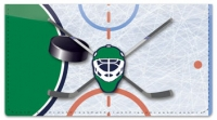 Click on Green & Blue Hockey Checkbook Cover For More Details