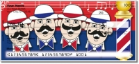 Click on Barbershop Quartet Personal Checks For More Details