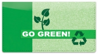 Click on Going Green Checkbook Cover For More Details