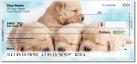 Click on Sleepy Golden Pup Personal Checks For More Details