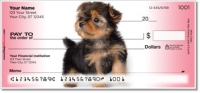 Click on Yorkie Pup Personal Checks For More Details