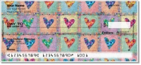 Click on Patchwork Heart Personal Checks For More Details