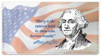 Click on George Washington Checkbook Cover For More Details