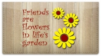 Click on Friends Are... Checkbook Cover For More Details